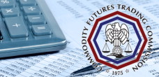 CFTC logo over spreadsheets