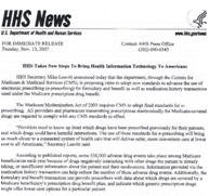 HHS News Release