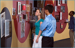 Visitors explore the David J. Sencer CDC Museum