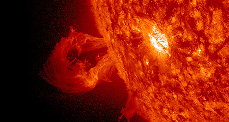 SDO captured this eruption on Oct 4, 2012.