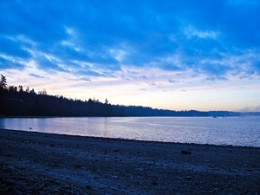 Port Gamble Bay, ancestral home of the Port Gambal S'klallams as the early morning dawns
