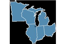 Region 5 covering Illinois, Indiana, Michigan, Minnesota, Ohio, Wisconsin