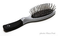 Photograph of a hairbrush