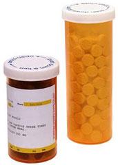Foto: frasco de medicamentos recetados