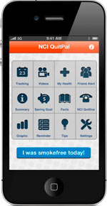 NCI's QuitPal App has tips and tools to help you become smoke-free.