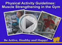 muscle strengthening at the gym