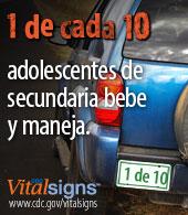 Campaña Vital Signs: 1 de cada 10 adolescentes de secundaria bebe y maneja
