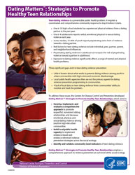 Dating Matters flyer