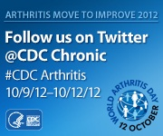 World Arthritis Day and Arthritis Twitter activity. Visit http://www.cdc.gov/arthritis/index.htm