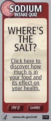 Salt Intake Widget. Flash Player 9 is required.