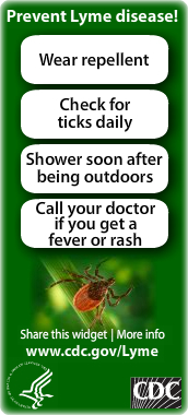 CDC Lyme Disease Widget. Flash Player 9 or above is required.