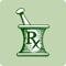 A green icon representing prescription drugs.