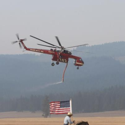 Photo: Wanted to share our comment on the photos.   Our ground salute to the hard-working fire crews, protecting not only us here at Circle C – but where ever they work to protect land and property.   Land that we love, stand beside her, and guide her..........God Bless America – to all fire crews everywhere!