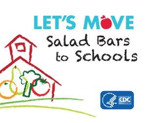 Photo: Kids may eat up to half of their calories at school, let's work together to make sure those are healthy calories.  Let's Move Salad Bars to Schools! http://go.usa.gov/YRyd