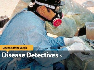 Photo: Disease detectives work around the world to track diseases, research outbreaks, and respond to emergencies of all kind. Want to learn more about our real-life detectives? Download CDC's iPad app and check out the Disease of the Week module. http://go.usa.gov/YK8d