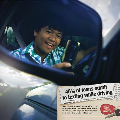 Photo: Texting and teens is a given.  Texting while teens are driving shouldn't be. Never text and drive!