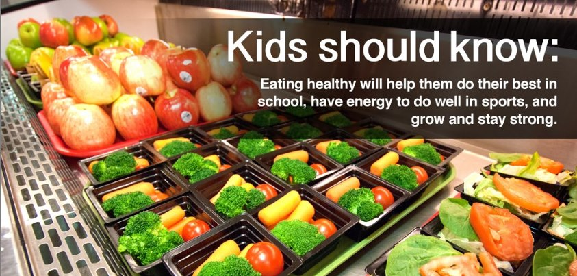 Photo: Kids should know: Eating healthy will help them do their best in school, have energy to do well in sports, and grow and stay strong.