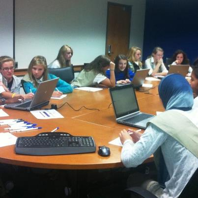 Photo: The Girl Scouts used travel.state.gov to plan a trip abroad as part of their Traveler Badge.