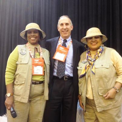 Photo: Deputy Assistant Secretary James Petit with Grannies on Safari at the AARP Life @ 50 event.