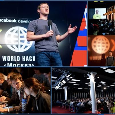 Photo: The Facebook Developer World HACK's have come to an end. Yesterday we hosted our last one in Moscow and were joined by over 260 developers and a very special guest! Thanks again for everyone who attended and Москва we will be back.