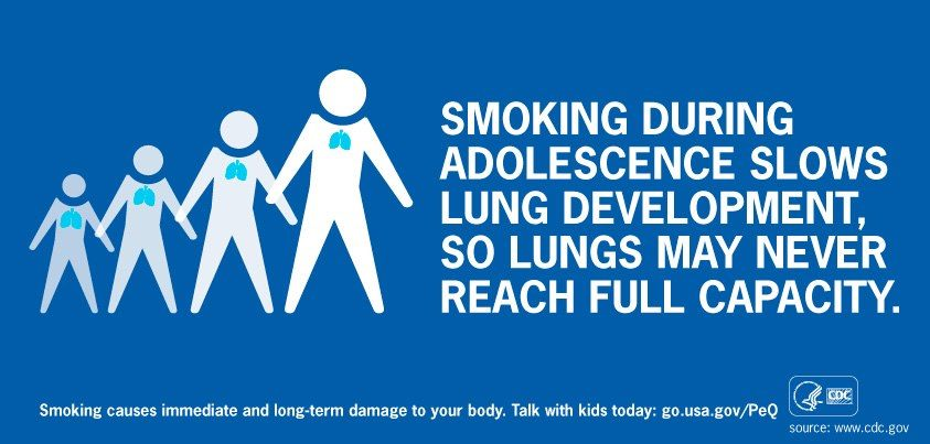 Photo: During National Health Education Week, share this image, and join us and Society for Public Health Education to help prevent smoking among young people.