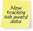 Now tracking sub award data