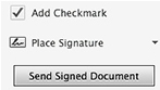 Sign files with e-signatures