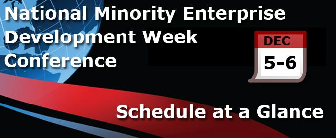Minority Enterprise Development Week Conference - Schedule at a Glance