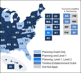 Affordable Insurance Exchange Grants Map