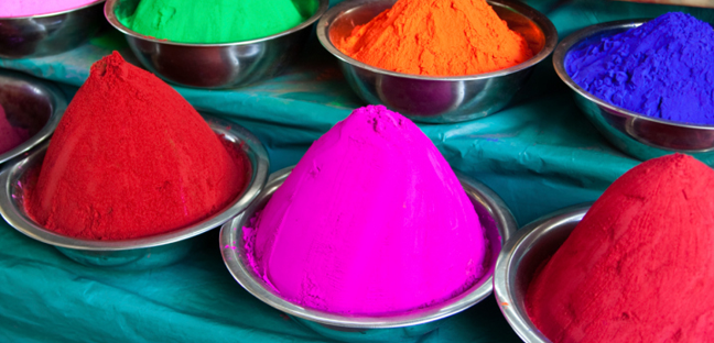 Photo of different colored dyes