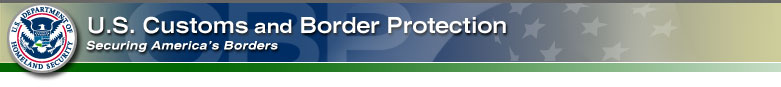 Customs and Border Protection website