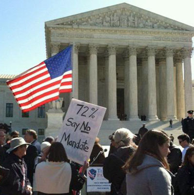 Obamacare protestors at the Supreme Court