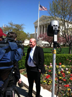 NFIB Attorney Michael Carvin is interviewed at the Supreme Court.