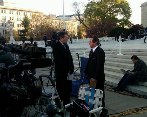 NFIB member and plaintiff David Klemencic at the Supreme Court.