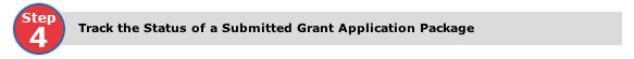Track the Status of a Submitted Grant Application Package