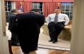 President Obama Talks with Alan Krueger and Jack Lew