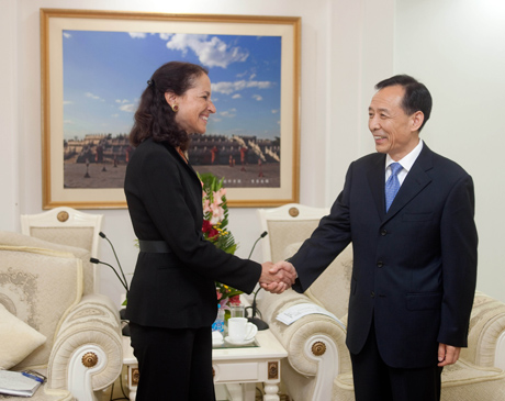 the Honorable Margaret Hamburg (Commissioner, FDA) and Mr. Pu Changcheng (Vice Minister, AQSIQ).