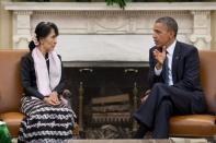 President Obama Meets with Aung San Suu Kyi