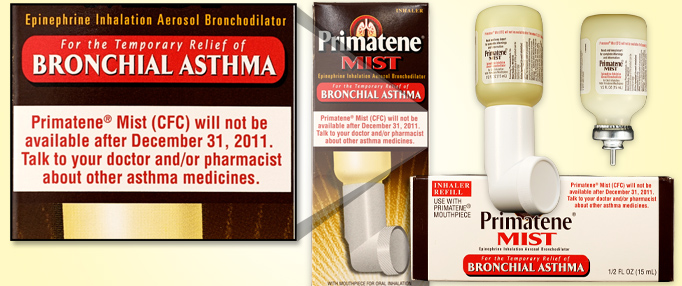 Primatene Mist With Chlorofluorocarbons No Longer Available After Dec. 31, 2011 - (FEATURE 2)