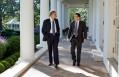 President Obama Walks with Senior Advisor David Plouffe
