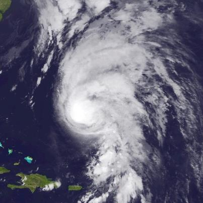 Photo: Hurricane Rafael will spread winds of tropical-storm-force across Bermuda this evening. However, sustained hurricane-force winds will not impact the island. Rafael is centered this evening about 130 miles south-southeast of Bermuda, moving toward the north-northeast at more than 25 mph, and will be passing east of Bermuda this evening. Maximum sustained winds are 85 mph - a Category One hurricane on the Saffir-Simpson Hurricane Wind Scale. Slow weakening is forecast and Rafael could lose its tropical characteristics by late Wednesday or Thursday. Get the latest on this hurricane, including graphics, on the NOAA NHC website at www.hurricanes.gov