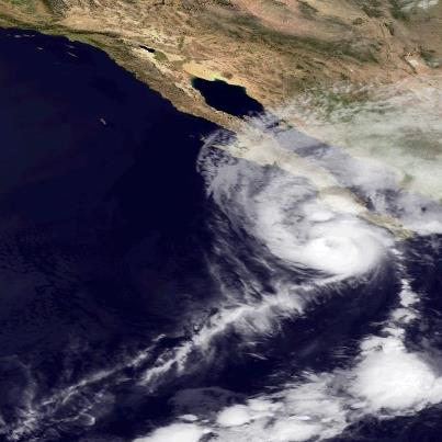 Photo: Hurricane Paul is moving a little faster toward the north-northeast this morning, centered about 200 miles south of Cabo San Lazaro, Mexico. A Hurricane Warning continues along the west coast of Baja California from Santa Fe to Punta Abreojos. Preparations to protect life and property there must be rushed to completion.  The center of Paul is expected to be near or over the west coast of the Baja Peninsula in the warning area by tonight. Maximum sustained winds are 110 mph -  a strong Category Two hurricane on the Saffir-Simpson Hurricane Wind Scale. Paul should weaken some today but will still be a hurricane at landfall. Go to the NOAA NHC website at www.hurricanes.gov for the very latest information on this hurricane.