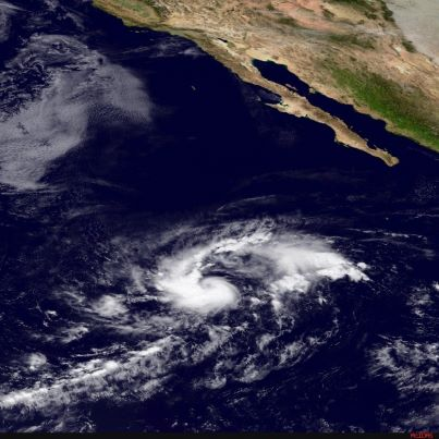 Photo: NHC has upgraded Tropical Depression Fifteen-E to Tropical Storm Olivia. It's centered tonight over the eastern North Pacific Ocean almost 900 miles southwest of the southern tip of Baja California. Maximum sustained winds are 45 mph, and some strengthening is possible during the next 48 hours. Olivia is moving toward the west, with a turn toward the northwest expected during the next couple of days. Olivia is not a threat to land. Get the latest on this storm, including graphics, on the NOAA NHC website at www.hurricanes.gov