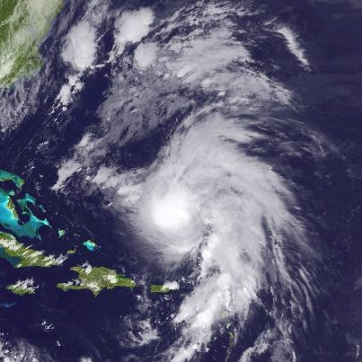Photo: Tropical Storm Rafael has turned north, centered this evening about 570 miles south of Bermuda. Maximum sustained winds remain at 70 mph.  Both a NOAA and a USAF Hurricane Hunter aircraft are en route to investigate the storm. Rafael is expected to turn more toward the northeast tomorrow. On that track, the center of Rafael will past near or just east of Bermuda late Tuesday or Tuesday Night. A Tropical Storm Warning continues for Bermuda. Rafael could become a hurricane tonight or Tuesday. Get the latest on this storm, including graphics, on the NOAA NHC website at www.hurricanes.gov