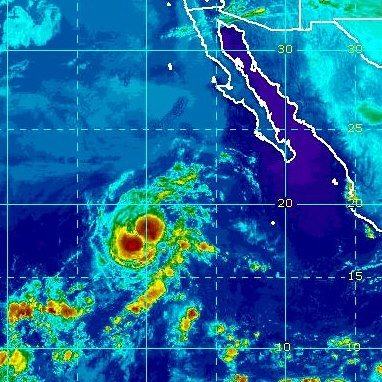 Photo: Tropical Storm Olivia is centered over the eastern North Pacific Ocean this morning about 845 miles southwest of the southern tip of Baja California. The storm is maintaining is 60 mph winds but weakening is expected to begin today, and Olivia could become a tropical depression by tomorrow night.  Its slow northward movement will become stationary tonight, then west-southwest on Tuesday. Olivia is not a threat to land. Get the latest on this storm, including graphics, on the NOAA NHC website at www.hurricanes.gov