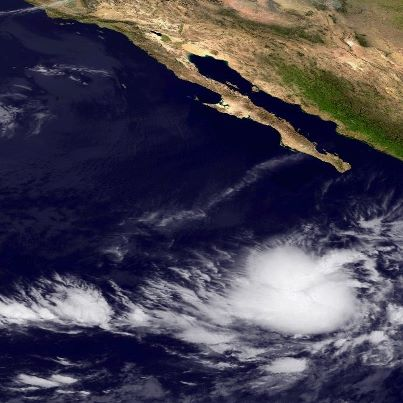 Photo: Over the eastern North Pacific Ocean, Hurricane Paul continues to  strengthen. Maximum sustained winds 90 mph, a strong Category One hurricane on the Saffir-Simpson Hurricane Wind Scale. Some additional strengthening is possible during the next 24 hours, with weakening after that. Paul is centered about 495 miles southwest of the southern tip of Baja California, moving toward the north. A  north to northeast movement is expected during the next day or so. The government of Mexico has issued a Tropical Storm Warning for the west coast of the Baja Peninsula from Sante Fe to Puerto San Andresito, Mexico.  A Tropical Storm Watch runs north from San Andresito to El Pocito. Tropical storm conditions are expected in the warning area by Tuesday afternoon, and those conditions are possible in the watch area by late Tuesday or early Wednesday. Get the latest on this hurricane, including watches, warnings and graphics, on the NOAA NHC website at www.hurricanes.gov