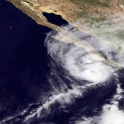 Photo: Hurricane Paul is centered this evening just 10 miles south of Cabo San Lazaro on the west coast of the Baja California Peninsula, moving north at 15 mph. Paul is expected to move near or over the west coast of Baja California Peninsula for the next 12 hours.  A Hurricane Warning continues on the Peninsula from Santa Fe to Punta Abreojos and from Evaristo to Mulege. Residents should remain in a secure place until the storm is over. Maximum sustained winds are 75 mph - a Category One hurricane on the Saffir-Simpson Hurricane Wind Scale. Weakening is expected as Paul moves over the higher terrain of Baja California Peninsula. Get the very latest on this hurricane, including warnings, graphics and expected impacts, on the NOAA NHC website at www.hurricanes.gov