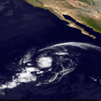 Photo: Tropical Storm Olivia is located over the eastern North Pacific Ocean, centered tonight about 875 miles southwest of the southern tip of Baja California. Maximum sustained winds are 60 mph. Some strengthening is still possible into Monday before weakening starts on Monday Night. A slow northward motion is expected tonight and Monday, then a turn toward the west on Monday Night into Tuesday. Olivia is not a threat to land. Get the latest on this storm, including graphics, on the NOAA NHC website at www.hurricanes.gov