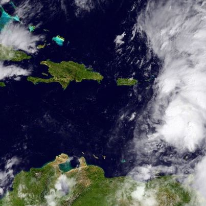 Photo: Tropical Storm Rafael is now moving toward the north-northwest, centered over the eastern Caribbean Sea at midday about 135 miles south-southeast of St. Croix. The forecast track brings the center of the storm near or over the Virgin Islands tonight. Tropical Storm Warnings have been extended to include Culebra and Vieques, and continue for the British and U.S. Virgin Islands, as well as a number of islands in the Lesser Antilles. A Tropical Storm Watch continues for Puerto Rico. Tropical storm conditions will spread across the warning area of the Lesser Antilles and Virgin Islands today, and across Culebra and Vieques tonight. Tropical storm conditions are possible over Puerto Rice tonight and Sunday. Maximum sustained winds are 40 mph. Some slow strengthening is possible during the next two days. Total rainfall amounts of 2 to 5 inches, with isolated 10 inch amounts, are possible over the Lesser Antilles, Virgin Islands, Culebra and Vieques, producing life-threatening flash flood and mudslides, especially in mountainous regions. Get the latest on the storm, including watches, warnings, and graphics, on the NOAA NHC website at www.hurricanes.gov
