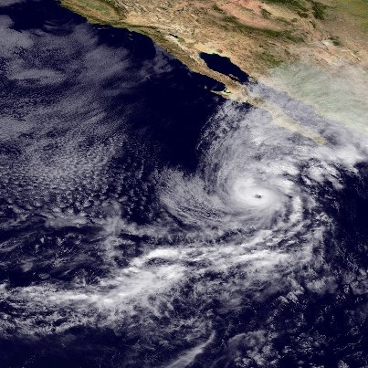 Photo: Hurricane Paul is now a major hurricane with 120 mph winds, centered tonight  about 415 miles south of the southern tip of Baja California, and moving toward the north-northeast. A Hurricane Warning has been issued for portions of the west coast of the Baja Peninsula. Go to the NOAA NHC website for the latest information on this storm, including forecasts and graphics, at www.hurricanes.gov